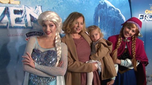 bijou phillips at disney on ice presents frozen los angeles celebrity premiere in los angeles, ca 12/10/15 - bijou phillips stock videos & royalty-free footage