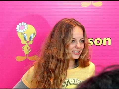 bijou phillips at the launch of 'tweety' collection by warner brothers consumer products on may 10, 2005. - bijou phillips stock videos & royalty-free footage