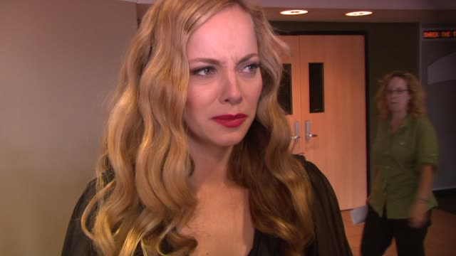 bijou phillips on her role, shooting in the czech republic, and the audition at the 'hostel 2' screening at 42nd street amc in new york, new york on... - bijou phillips stock videos & royalty-free footage