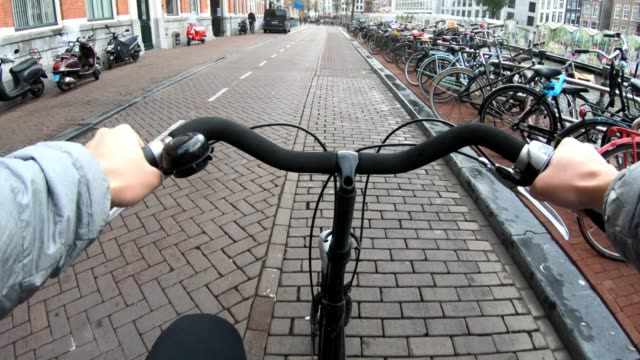 bike cycling at amsterdam netherlands - netherlands stock videos & royalty-free footage