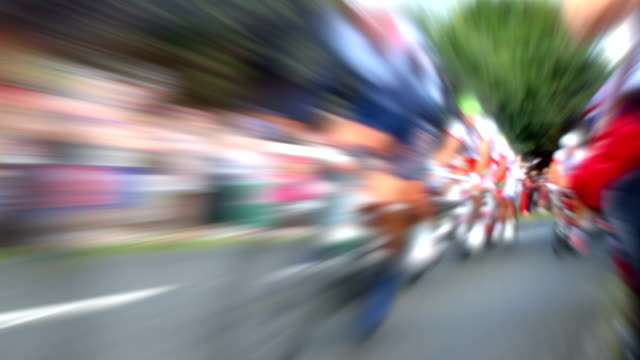 bike race slow motion. hd - blurred motion stock videos & royalty-free footage