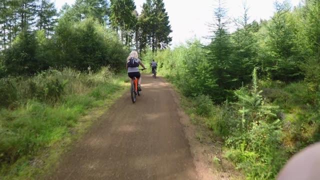 bike ride bonding - northumberland video stock e b–roll