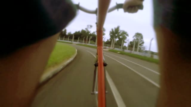 bike ride - extreme sports point of view stock videos & royalty-free footage