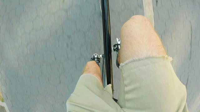 bike ride - pov - shorts stock videos & royalty-free footage