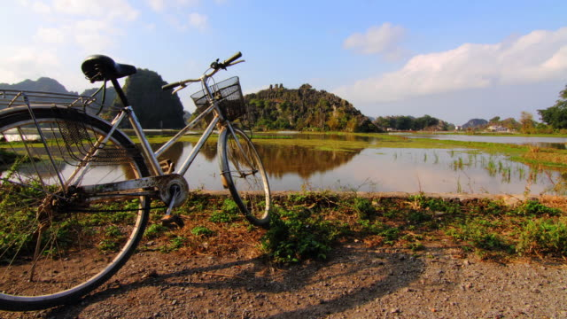 bike shadow in vietnam - vietnam meridionale video stock e b–roll