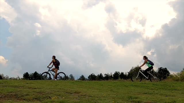 bike sport training on the nature - mountain bike stock videos & royalty-free footage