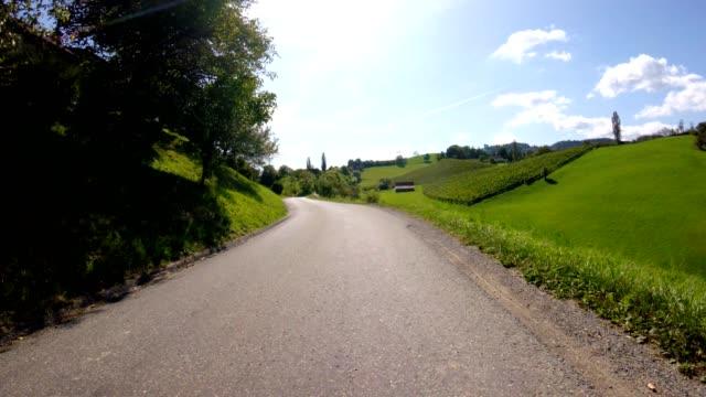 bike pov: vineyards in southern styria, austria - cabernet sauvignon grape stock videos and b-roll footage