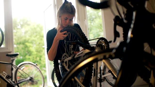 bike wheel 2 - puncture repair kit stock videos & royalty-free footage