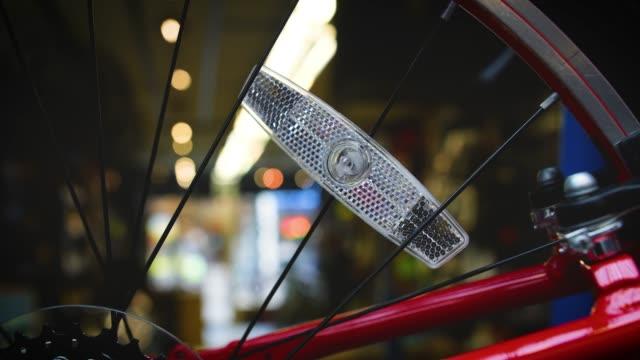 ms bike wheel reflector - reflector stock videos & royalty-free footage