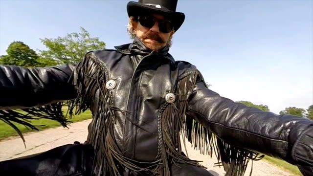 biker dude - motorcycle biker stock videos & royalty-free footage