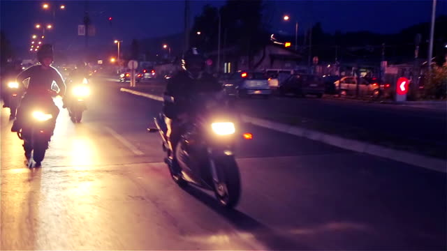 bikers race - motorcycle stock videos & royalty-free footage