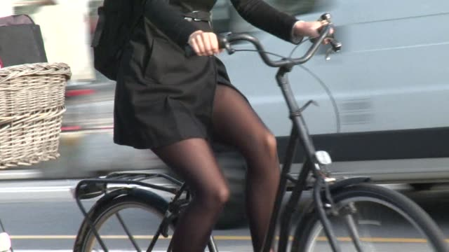bikes already make up around 50 percent of all traffic in copenhagen but the authorities think they can raise this even further by creating new... - oresund region stock videos & royalty-free footage