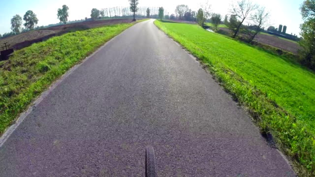Bike Rider's Perspektive auf die country road