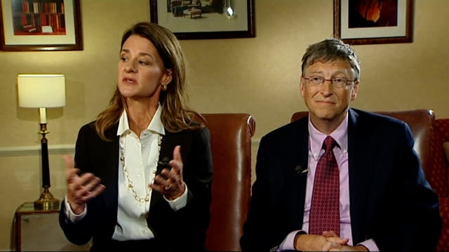 bill and melinda gates interview bill and melinda gates interview sot [melinda] on rich people around the world and whether they should give more of... - 不公平点の映像素材/bロール