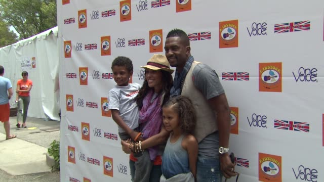 bill bellamy and wife kristen baker at the kidstock music and arts festival 'rocks on' with hudson jeans at beverly hills ca - bill bellamy stock videos and b-roll footage