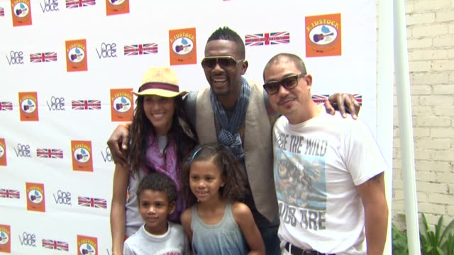 bill bellamy and wife kristen baker peter kim at the kidstock music and arts festival 'rocks on' with hudson jeans at beverly hills ca - bill bellamy stock videos and b-roll footage