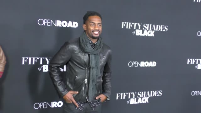 bill bellamy at the fifty shades of black premiere at regal cinemas in los angeles in celebrity sightings in los angeles - bill bellamy stock videos and b-roll footage