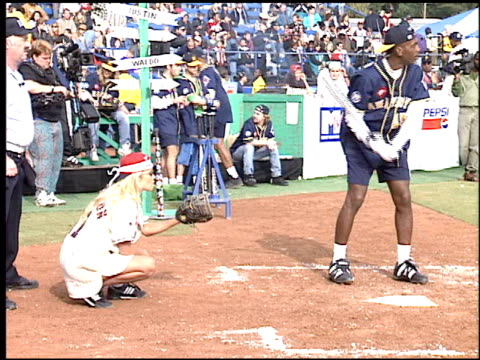 bill bellamy at the tj martell softball game at usc baseball field in los angeles california on january 14 1995 - bill bellamy stock videos and b-roll footage