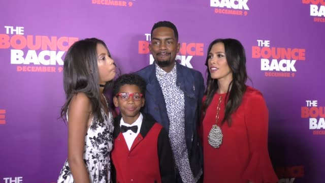 bill bellamy family at the premiere of viva pictures' 'the bounce back' on december 06 2016 in hollywood california - bill bellamy stock videos and b-roll footage