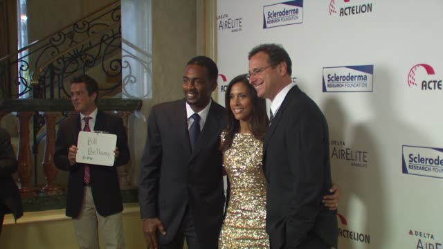 bill bellamy kristen bellamy bob saget at the scleroderma research foundation's 'cool comedy hot cuisine' at beverly hills ca - bill bellamy stock videos and b-roll footage
