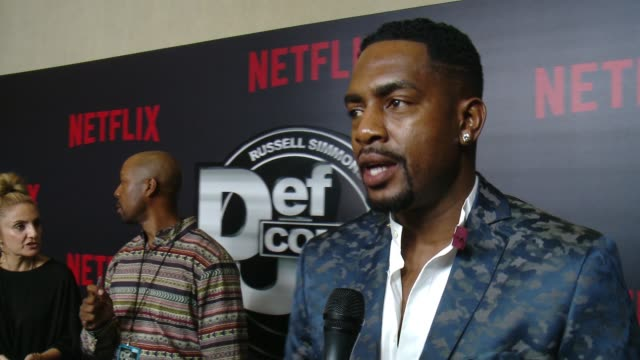 interview bill bellamy on how def comedy jam influenced his career impact on comedy why people love it why he is here tonight at netflix presents... - bill bellamy stock videos and b-roll footage