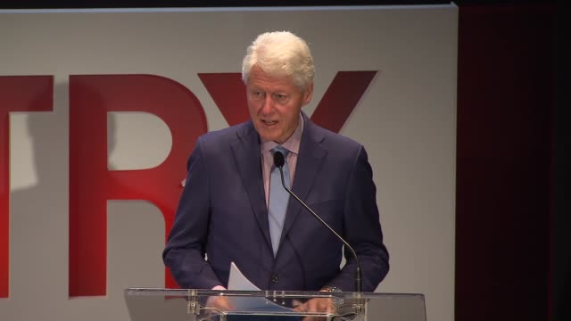 speech bill clinton at fifth annual town country philanthropy summit at the hearst tower on may 9 2018 in new york city - bill clinton stock videos & royalty-free footage
