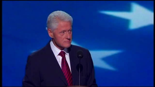 bill clinton comments on economy at dnc on september 05, 2012 in charlotte, north carolina - nomination stock videos & royalty-free footage