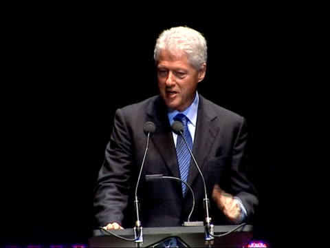 bill clinton delivering royal albert hall speech the first question is what is the fundamental nature of the twenty first century world / many people... - vulnerability stock videos and b-roll footage