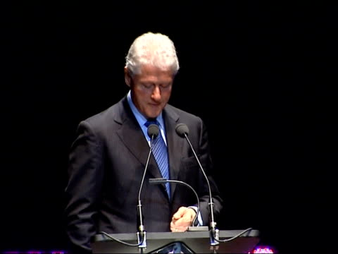 Bill Clinton delivering Royal Albert Hall speech Trying to contain the weapons and missiles that were in the former Soviet Union to get them back...