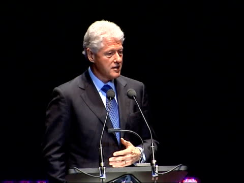 bill clinton delivering royal albert hall speech we are in a world that has been good to us we've been able to get an education a job access to the... - north atlantic ocean stock videos & royalty-free footage