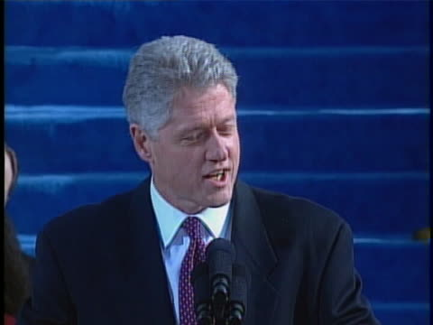 bill clinton discusses the benefits of diversity during the address at his second presidential inauguration. - oath stock videos & royalty-free footage