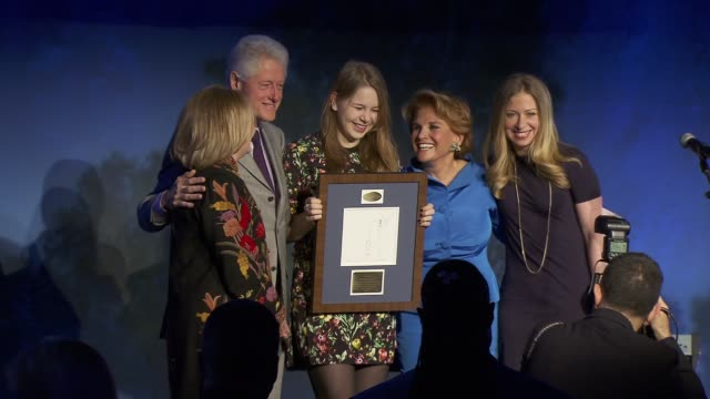 Bill Clinton Hillary Clinton and Chelsea Clinton at SeriousFun Children's Network Honors Liz Robbins With Celebrity Guests at Chelsea Piers Sports...