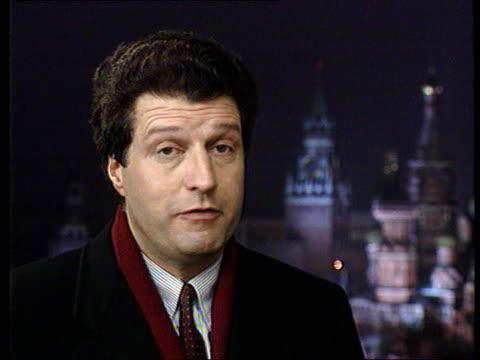 bill clinton meets boris yeltsin in moscow; moscow: cms manyon i/c sot sign off tx 13.1.94/nat - boris yeltsin stock videos & royalty-free footage