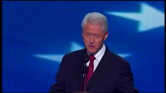 bill clinton says wants obama as his next president at dnc on september 05, 2012 in charlotte, north carolina - nomination stock videos & royalty-free footage