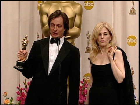 bill corso and valli o'reilly winners best makeup for 'lemony snicket's a series of unfortunate events' at the 2005 annual academy awards at the... - 第77回アカデミー賞点の映像素材/bロール