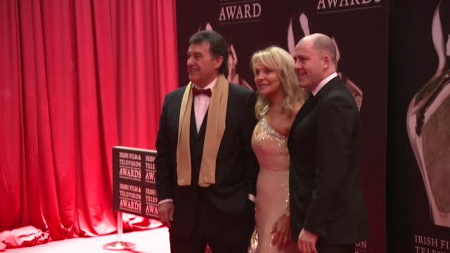 bill cullen, jackie lavin and brian purcell at the iftas at convention centre dublin, ireland on february 11th 2012 - irish film and television awards stock videos & royalty-free footage
