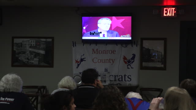Bill DeBlasio speaks as the Monroe County Democrats gather to watch the first night of Democratic debates at the Crazy Horse Bar Wednesday June 26...