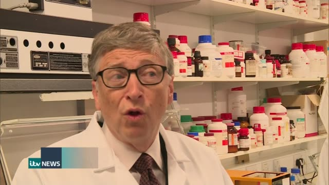 bill gates and george osborne pledge 3 billion pounds to help fight against malaria; bill gates interview sot - country by country we'll cut down the... - history stock videos & royalty-free footage