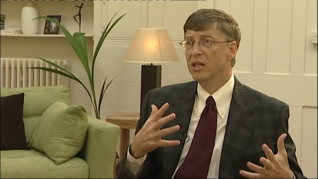 bill gates talks about the role of the pc in consuming media saying 'tv will be defined so that the shows will be when you want them' - cloud computing stock videos & royalty-free footage