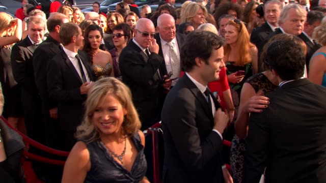 bill hader arrives at the 2013 emmy awards. - emmy awards stock videos & royalty-free footage