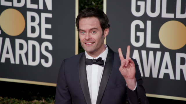 bill hader at the 76th annual golden globe awards arrivals - annual event stock videos & royalty-free footage