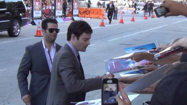 Bill Hader greets fans at the To Do List Premiere at Regency Bruin Theater in Westwood at Celebrity Sightings in Los Angeles Bill Hader greets fans...
