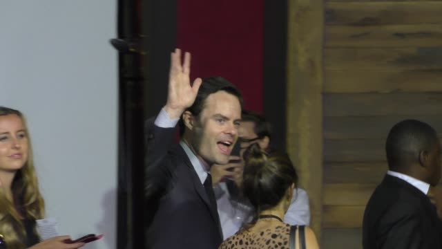 bill hader outside the it 2 premiere at bruin theatre in westwood in celebrity sightings in los angeles - bruin theater stock videos & royalty-free footage