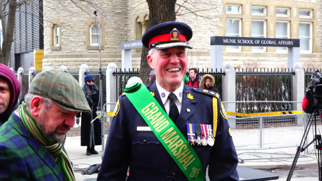 bill is the grand marshal of the 2015 parade. the event is also known as the feast of saint patrick which is a cultural and religious celebration... - 酋長点の映像素材/bロール
