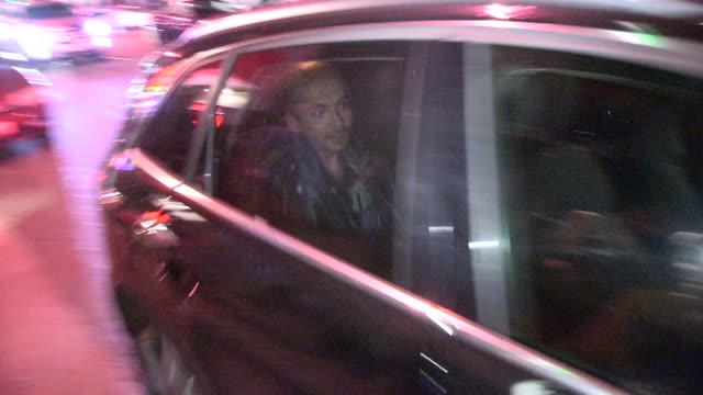 bill kaulitz, tom kaulitz, georg listing & gustav schafer exit performance at viper room in west hollywoodin celebrity sightings in los angeles, - viper stock videos & royalty-free footage