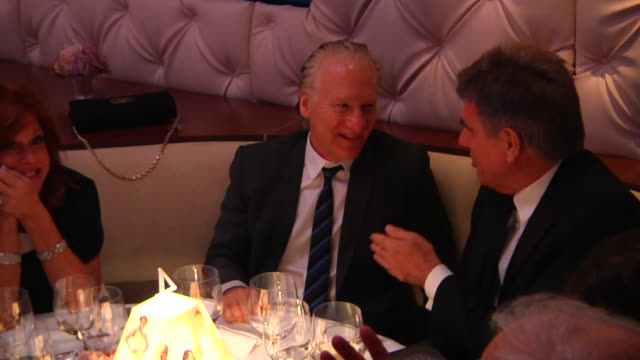 bill maher at the 2012 vanity fair oscar party hosted by graydon carter - inside party at west hollywood ca. - oscar party stock videos & royalty-free footage