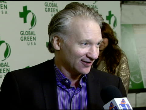 vídeos de stock, filmes e b-roll de bill maher at the global green usa's 5th annual preoscar party at null in hollywood california on february 20 2008 - global green usa