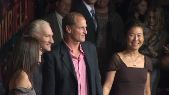 bill maher woody harrelson at the 'zombieland' los angeles premiere arrivals at hollywood ca - woody harrelson stock-videos und b-roll-filmmaterial
