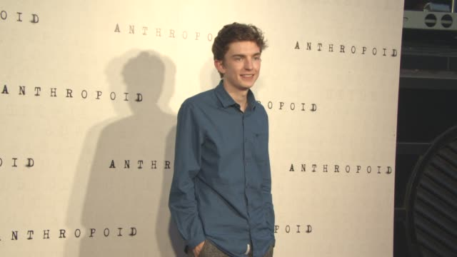 bill milner at 'anthropoid' film premiere at bfi southbank on august 30, 2016 in london, england. - bfi southbank stock videos & royalty-free footage