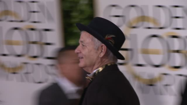 Bill Murray at the 72nd Annual Golden Globe Awards Arrivals at The Beverly Hilton Hotel on January 11 2015 in Beverly Hills California